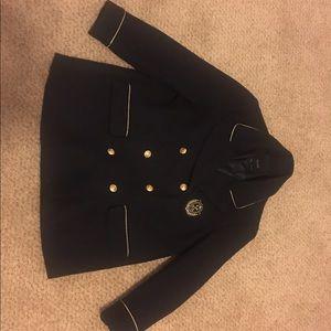 Warm navy jacket/peacoat. XL.