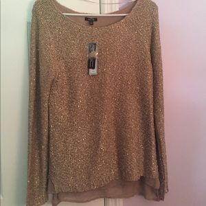 Brand new rose gold detailed sweater