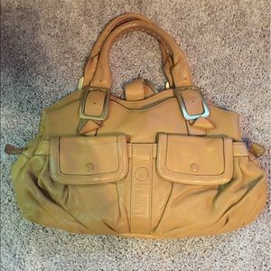 Cole Haan village soft camel brown leather purse
