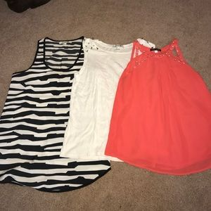Three size small tops