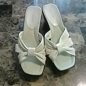 Liz Claiborne White Sandals
