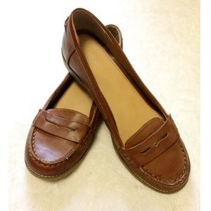 Old Navy sz 9 brown penny loafers leather