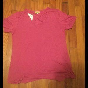 Cross cross Piko short sleeve top, size L, NWT