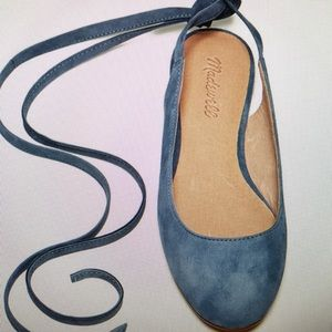 Madewell ankle tie flats size 7.5