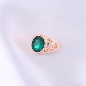 Jewelry - Gold Austrian Crystal Tourmaline Green Gem Ring