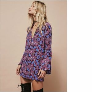 Free People Magic Mystery bell sleeve floral tunic