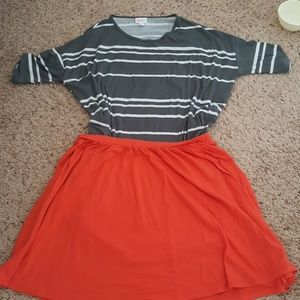 Bright coral skirt