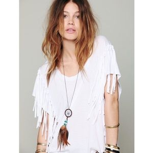 Free People Fantasy Fringe Top in White