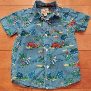 Hawaiian Style Toddler Shirt
