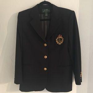 Ralph Lauren raised logo blazer, size 12P