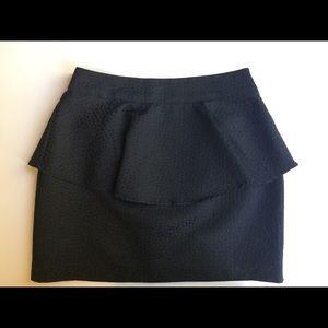 Silence +Noise black ruffle skirt