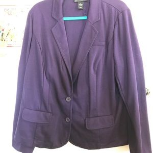 Deep purple blazer