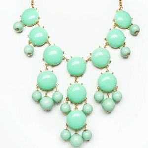 J. Crew light green Bubble Necklace