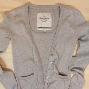 Abercrombie & Fitch Cashmere Cotton Blend Cardigan
