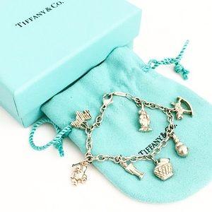 Authentic Rare Tiffany 925 Multi Charm Bracelet