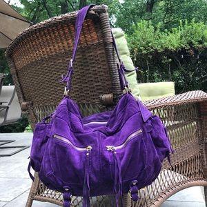 Stunning purple boho SORIAL suede hobo bag