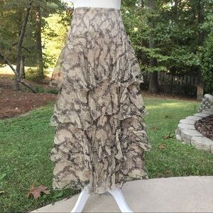 EUC Laundry by Shelli Segal 100% Silk Skirt