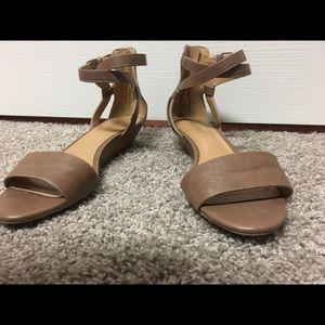 Nine west brown strappy sandals