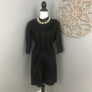 French Connection | Black Long Sleeve Romper