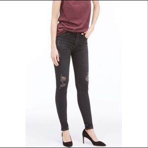 AG Farrah Skinny Hi Rise distressed denim size 27