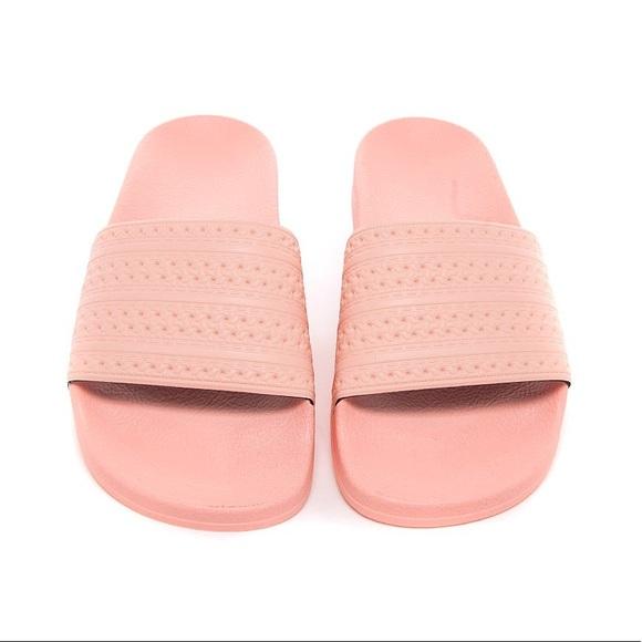 Adidas zapatos Pink diapositivas poshmark