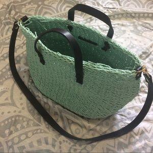 Mini basket tote bag from Zara