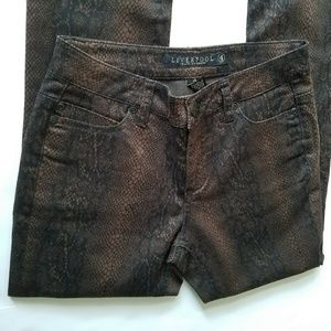 Liverpool Snake Print Jeans -Brown