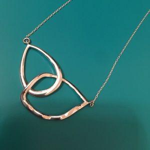 Chloe + Isabel interlocking silver necklace. New.