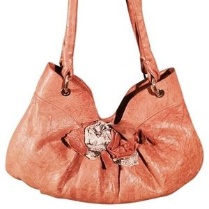 Paolo Masi leather floral embellished hobo bag