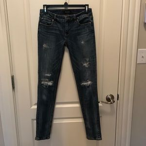 Ripped WHBM jeans with silver thread