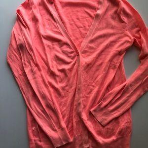 Gap coral button cardigan
