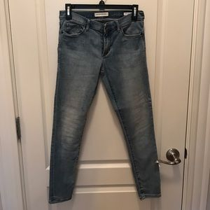 Banana Republic skinny ankle jeans, lighter wash