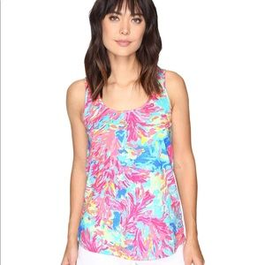 Lilly Pulitzer Kinsey Tank Multi Palm Beach Coral