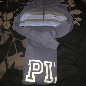 Love pink sweatsuit great condition