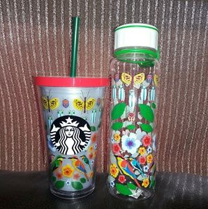 NWT| Starbucks Insulated Floral Tumblr & Travel Bo