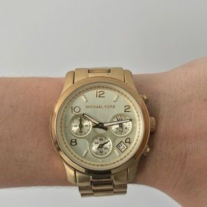 Michael Kors Gold Tone Stainless Steel Watch