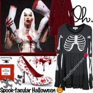 ☠🆕 Wildfox Halloween ☠ Skeleton Babydoll Dress