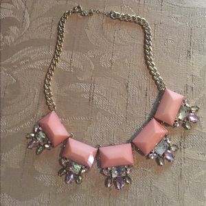 Pink and Rhinestone Necklace