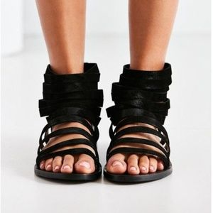 Urban Outfitters Leather Strappy Gladiator Sandals
