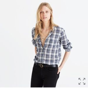 Madewell slim ex-boyfriend shirt in coltrane plaid