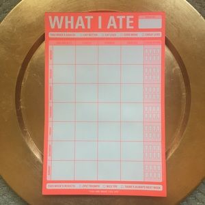 NEW What I Ate Notepad