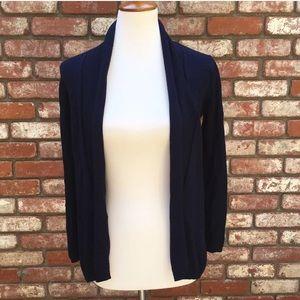 Zara Knit Navy Open Cardigan