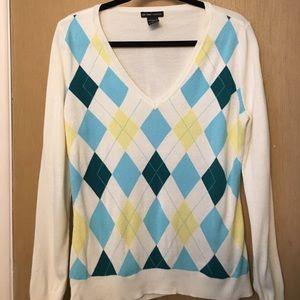 New York & Company Argyle Sweater - Large