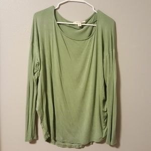 Olive green wide neck tunic