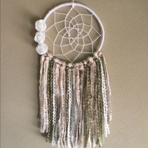 White And Olive Dreamcatcher