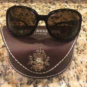 True Religion brown sunglasses