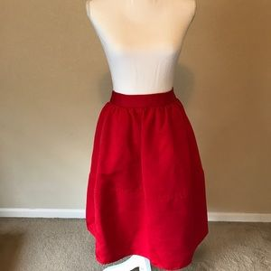 Express Red Full Party Skirt