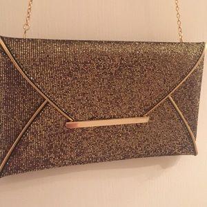 Bronze Gold Envelope Clutch