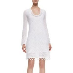 White Lilly Pulizer Long Sleeve Sweater Dress