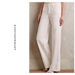Anthropologie Level 99 cotton/linen pants - white